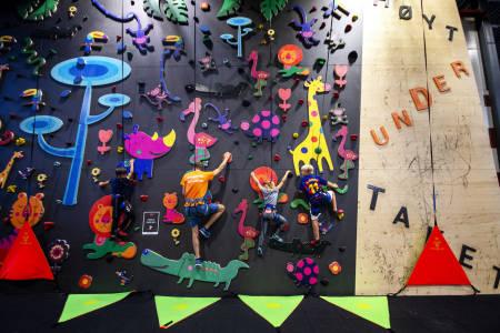ÅPNER NYTT KLATRESENTER I BERGEN: Høyt Under Taket åpner nytt klatresenter på Kokstad som ligger i Fana i Bergen. Her fra Høyt Under Taket Tønsberg. Foto: Kai-Otto Melau