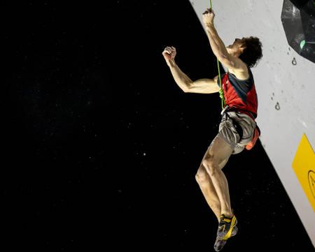 BEST I VERDEN: Adam Ondra gikk til topps i verdenscuprunde i Frankrike. Foto: Bjorn Pohl