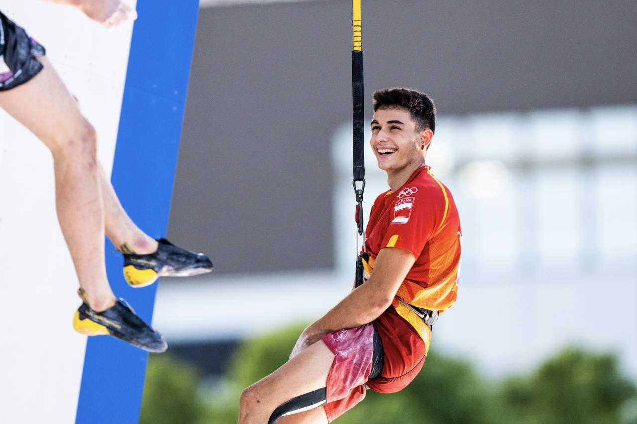OL-VINNER: 18 år gamle Alberto Ginez Lopez er den første i historien til å vinne OL-gull i klatring. Foto: IFSC/Daniel Gajda