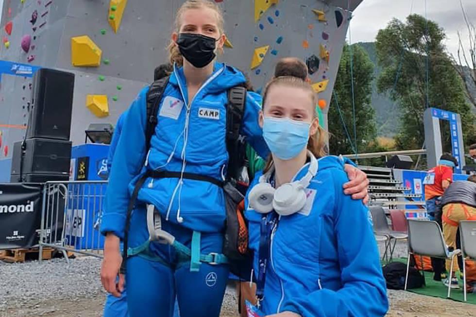 VERDENSCUP: Iben Kongsvik Paulsen og Dina Eivik representerte det norske paralandslaget på verdenscupen i Briançon. Foto: NKF/Kjersti Gausvik