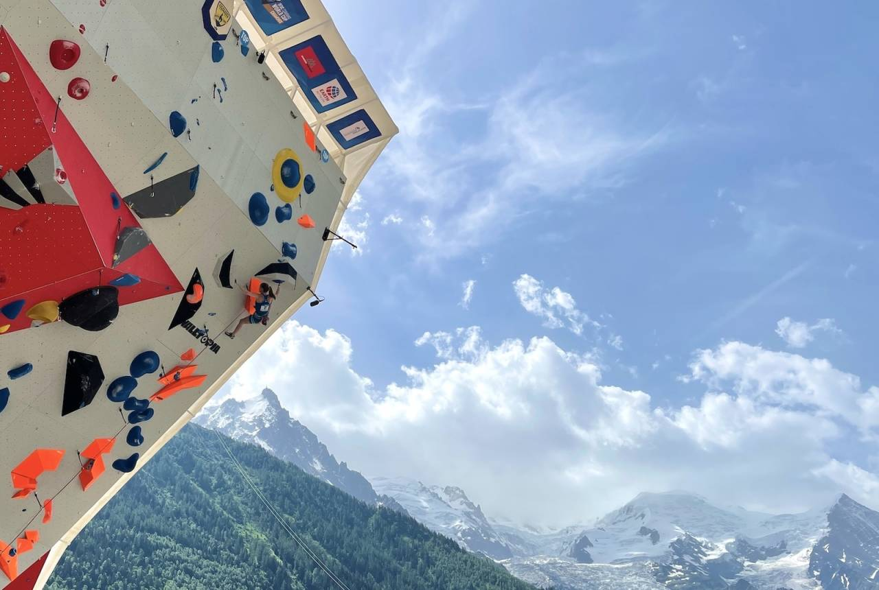 verdenscup chamonix tina hafsaas klatring
