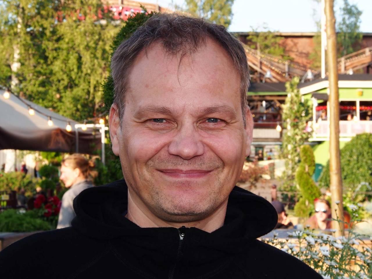 Klatrelegende: Henrik Suihkonen, Finlands beste klatrer gjennom mange år og grunnleggeren av Kiipeily Areena. Nå er han daglig leder for Los Capitanos OY. FOTO: IVER GJELSTENLI