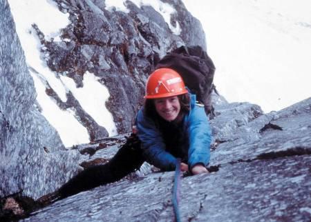 ALLTID BLID PÅ TUR: Berit Skjevling og Anne Grete Nebell klatret Rimmonruta som første rene kvinnelag i mai 1988. Foto: Anne Grete Nebell