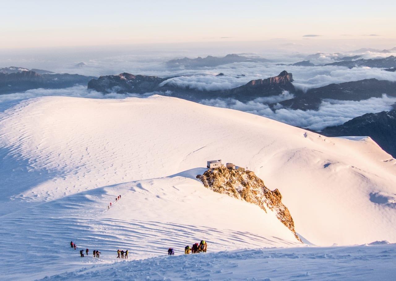 På normalveien til Mont Blanc. Foto: Magnus Hendis