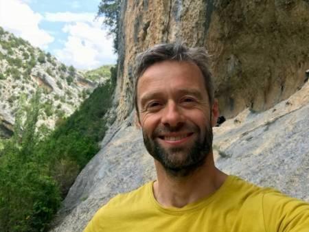 Forfatteren av Sikker klatring, Geir Evensen. Foto: Privat