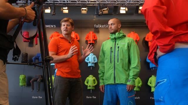 Norrøna-sjef Jørgen Jørgensen forteller om årets nyheter, blant annet relanseringen av Falketind-kolleksjonen.