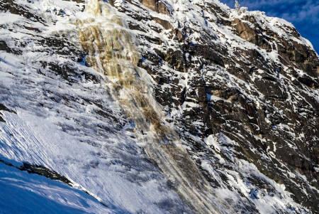Den hvite stripa formes som en islinje på vinteren; dog med varierende kvalitet. Foto: Thomas Horgen