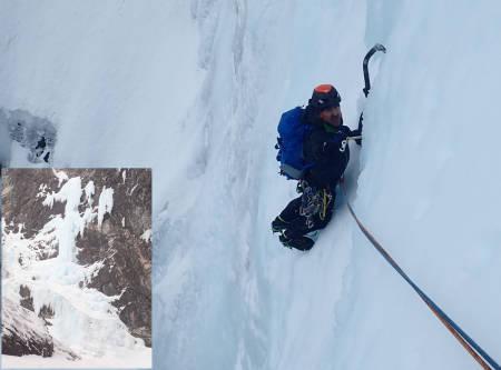 Gjølapilaren isklatring Litldalen