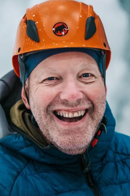 Hans Petter Håkonsen og Tau AS vil drifte isveggene på SNØ. Foto: Anders Vestergård.