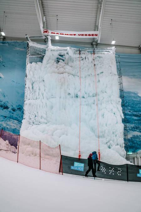Isveggen på SNØ. Foto: Anders Vestergård.