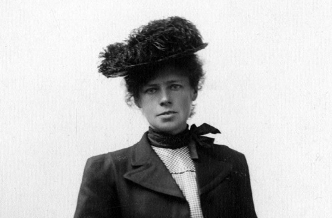 Therese Bertheau. Utsnitt av bilde som tilhører Gamle Bergens bildesamling.