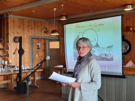 Anne Melgård forteller om Boeck og Keilhau. Foto: Lisa Kvålshaugen Bjærum