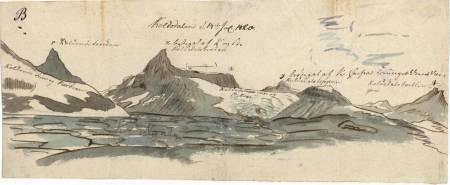 """Koldedalen. Baltazar Mathias Keilhau: """"Erindring af Fjeldreisen i 1820. Tilegnet min Ven Boeck. Keilhau. Christiania 1821."""""""