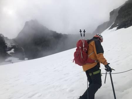 Nesten på innsteget til Pionerruta. Foto: Sebastian Namork