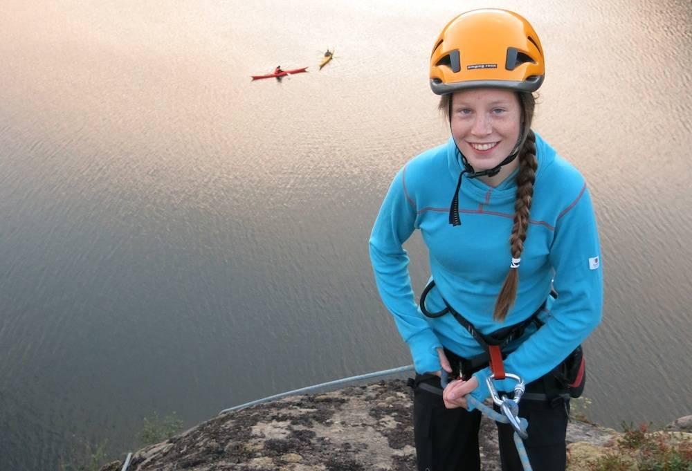 Christine Bramley opplever å ha blitt bedre kjent med seg selv etter å ha fått prøvd seg ut på klatring.