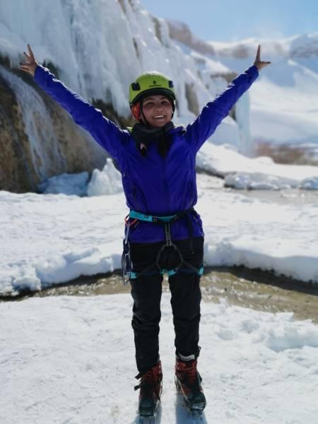 Topp stemning på isklatring!