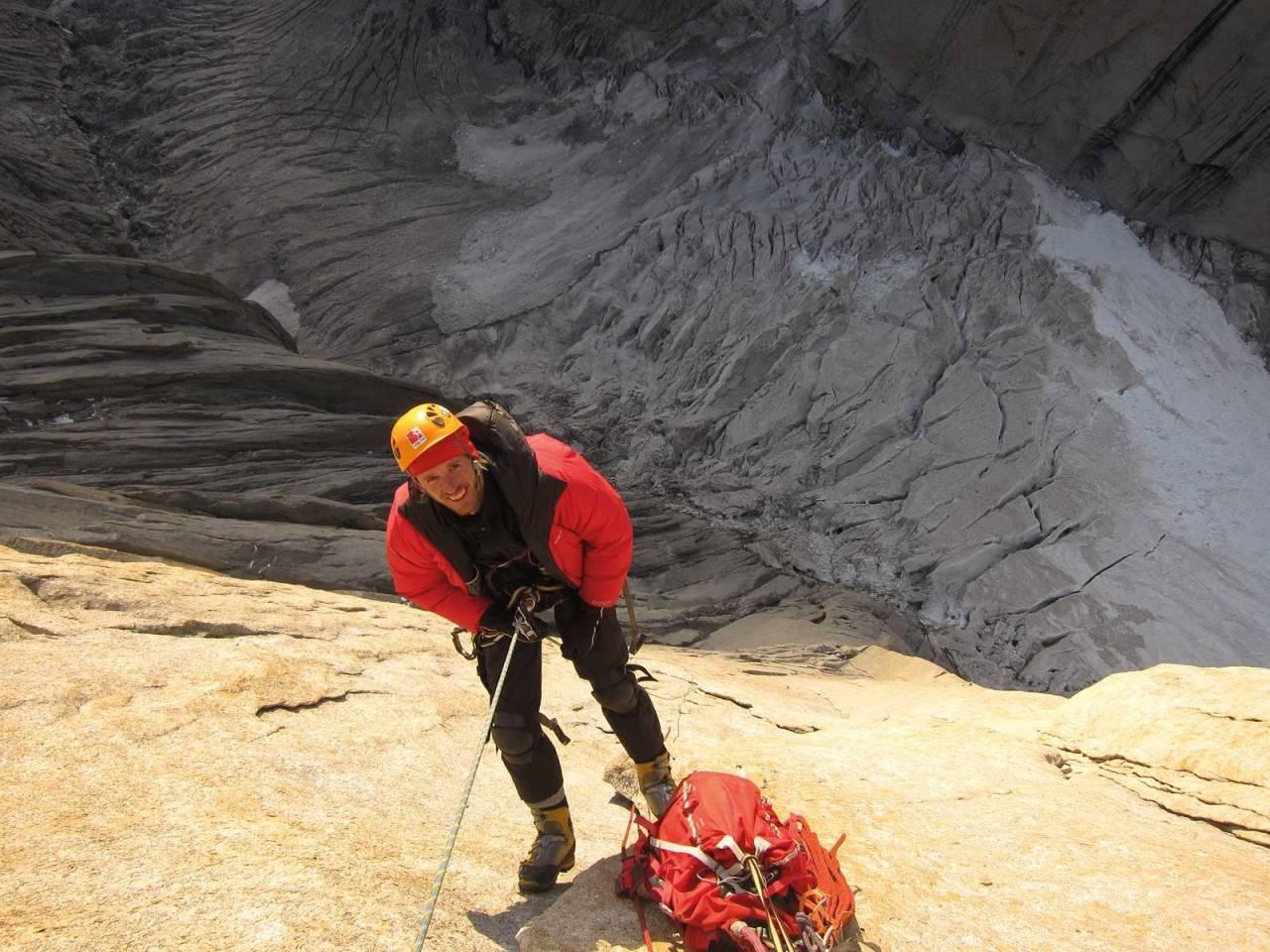 Ekspedisjon: Odd Roar på Nafes Cap i Pakistan. Foto: Henki Flatlandsmo