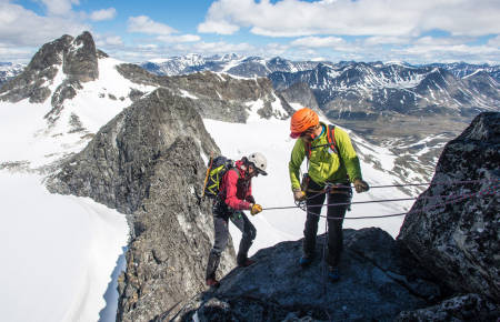 Nortind tindevegleder leif inge magnussen klatring guide fjellklatring