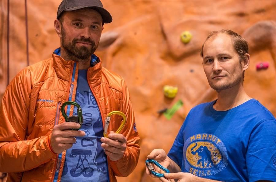 I Klatreskolens første del handler det om topptauing, og vi har med oss Nikolai Kolstad (til høyre), som er medlem i Sikkerhetskomiteen i Klatreforbundet. Foto: Christian Nerdrum