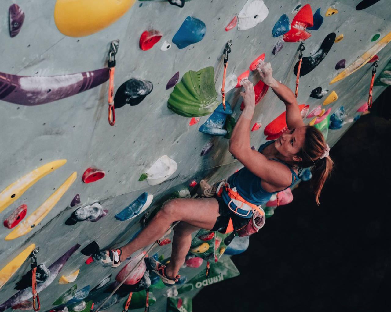 STERK: Tina Hafsaas er en av Norges sterkeste klatrere, og innehaver av temmelig mye POWER. Hva det betyr får du vite i denne artikkelen. Foto: Bjørnar Smestad
