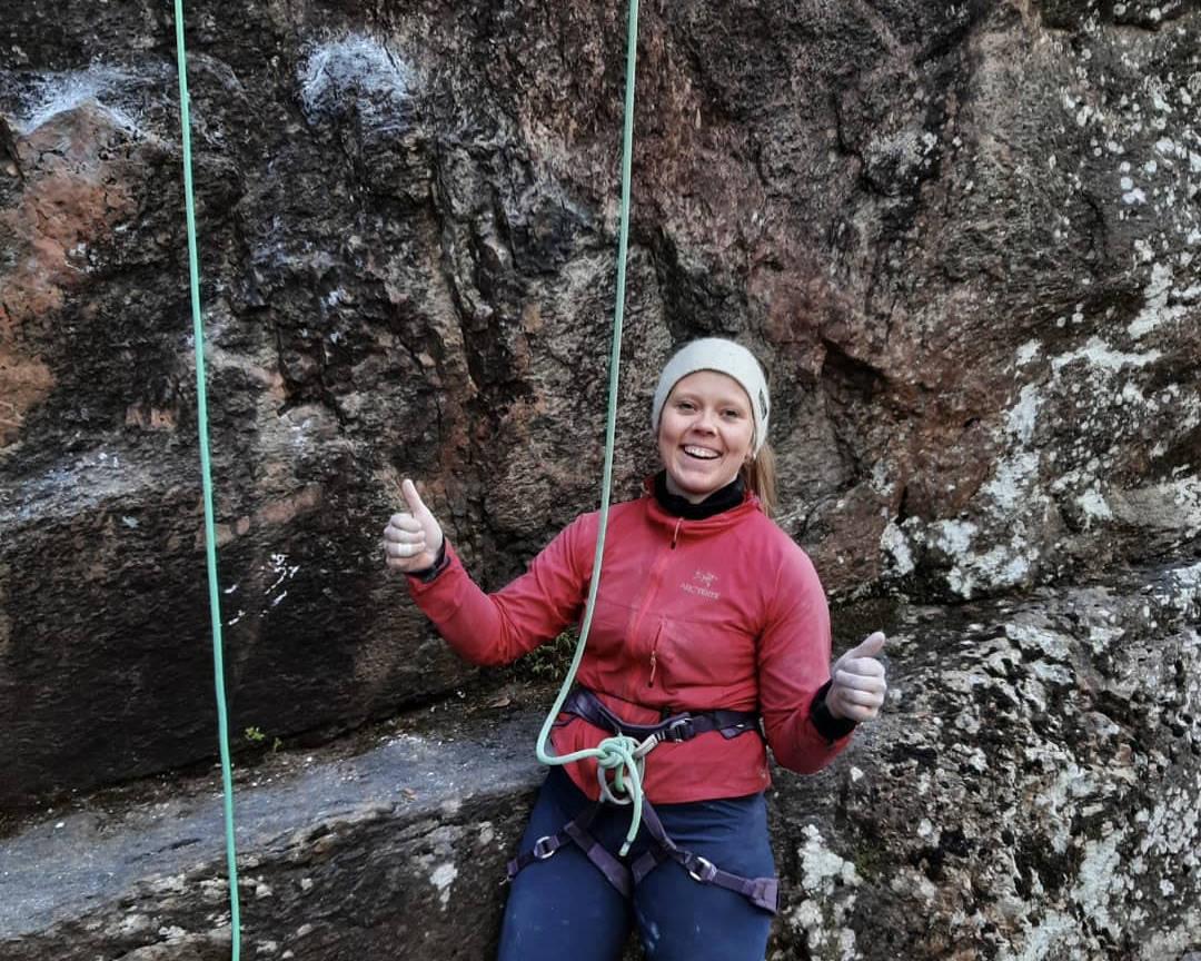 ENDELIG LØNN FOR STREVET: Jeg har utlevert meg selv ganske mye de siste månedene, men jeg håper jo at flere kan ta lærdom av klatretrening for oss amatørklatrere.