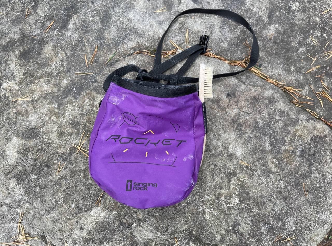 Test av Singing Rock Rocket Chalk Bag klatring buldring