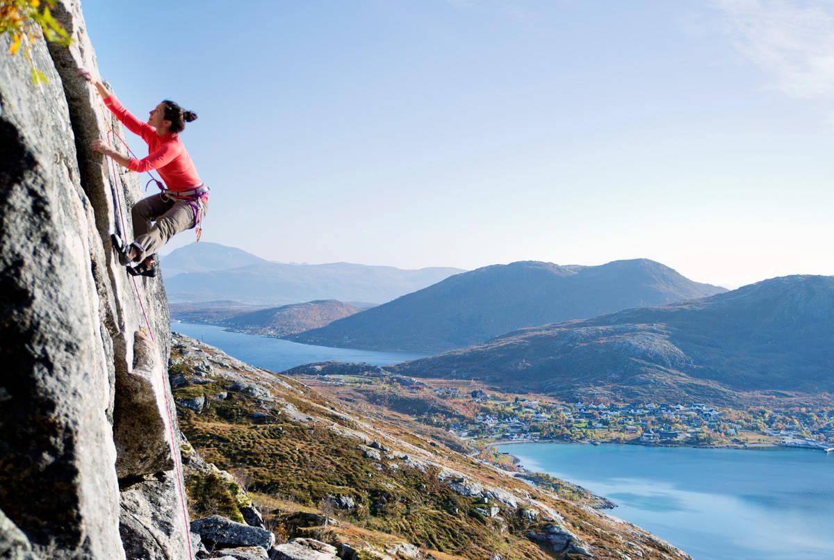 klatring Ersfjorden Tromsø