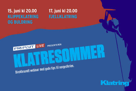 Direktesendte webinarer på Fri Flyt Live gir deg gode tips til norgesferie med klatring.