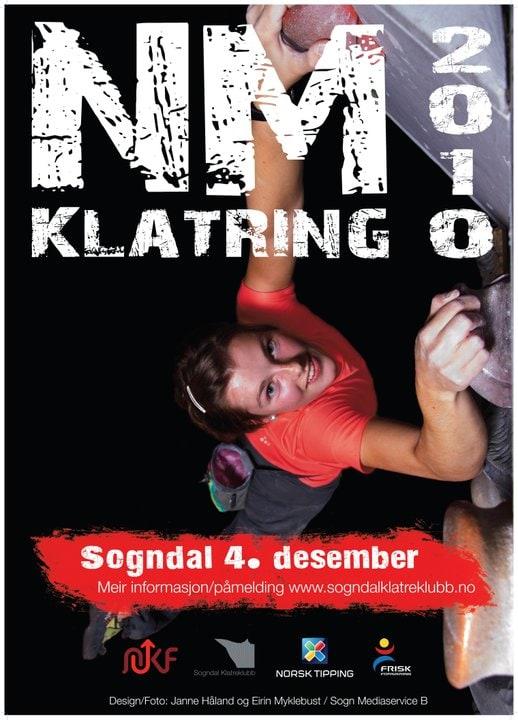 Årets NM-plakat. På bildet: Ragnhild Eriksrud.