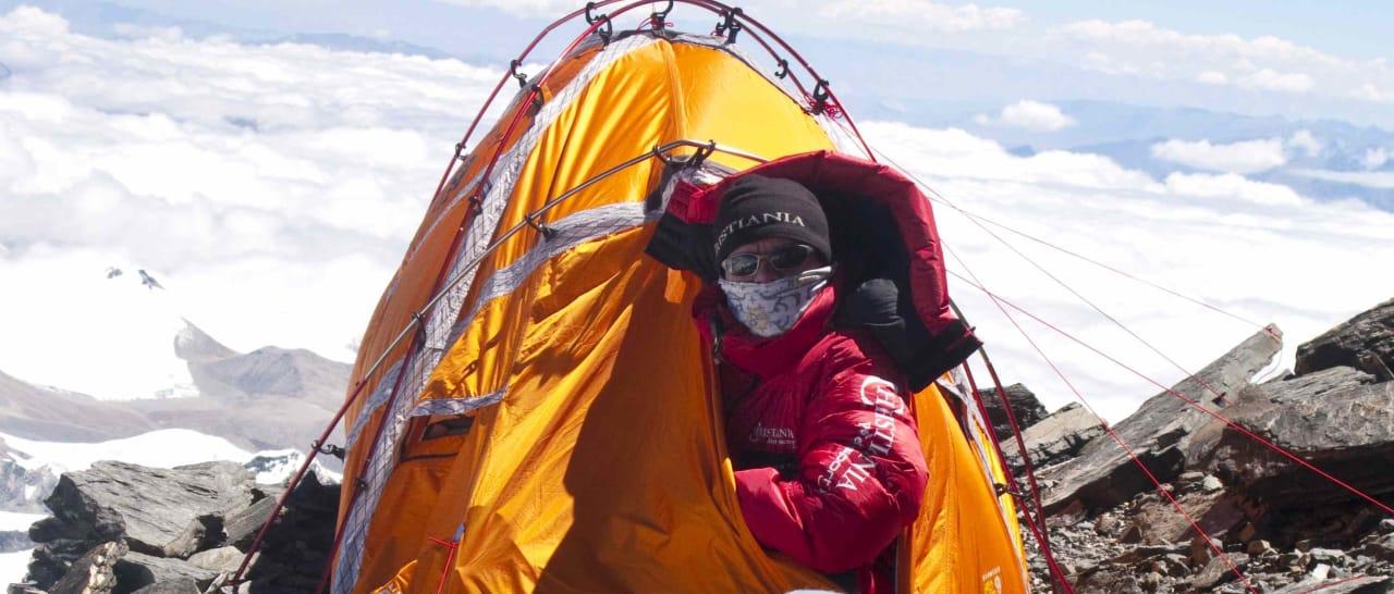 Jarle Trå på ca 7500 meter. Foto: Everest09.no