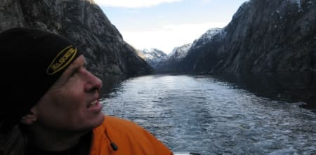 Guy Lacelle i Lysefjorden. Foto: Hari Berger