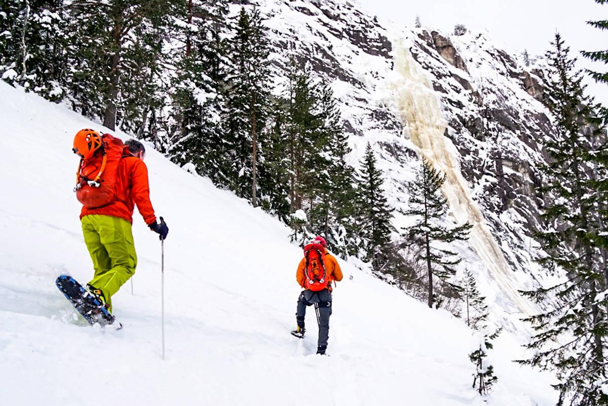 snøskred klatring