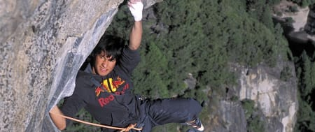 David Lama in action, sponset av Red Bull. Foto: Red bull