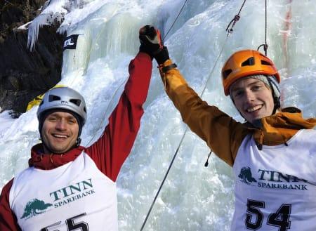 Disse to har konkurrert før, og nok en gang var det Martin Skaar Olslund (til høyre) som vant. Denne gangen måtte Marius Olsen (t.v) se seg slått av Damien Baxter på andreplass. Arkivfoto: Dag Hagen