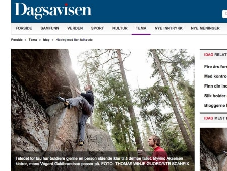 Faksimile fra Dagsavisen.no