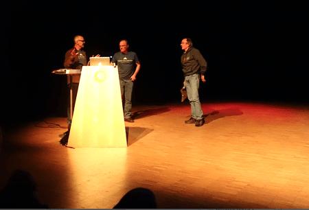 Stein P. Aasheim sammen med Gordon og John Stainforth. Foto: Dag Hagen