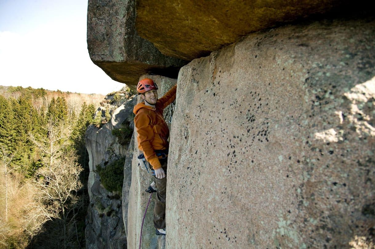 Andreas på toppen. Foto: Alvaro Susena